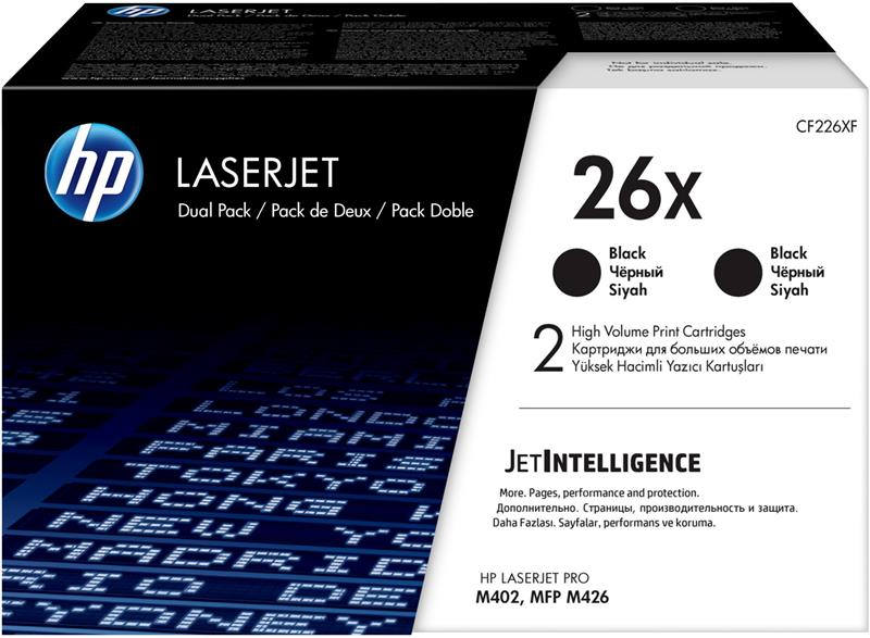 Картридж HP 26X LJ Pro M402/M426 2-pack High Yield Black Original LaserJet Toner Cartridges