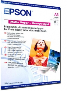 Бумага Epson A3 Matte Paper-Heavyweight, 50л.