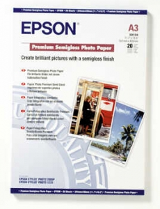 Бумага Epson A3 Premium Semigloss Photo Paper, 20л.