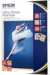 Бумага Epson 130mmx180mm Ultra Glossy Photo Paper, 50л.